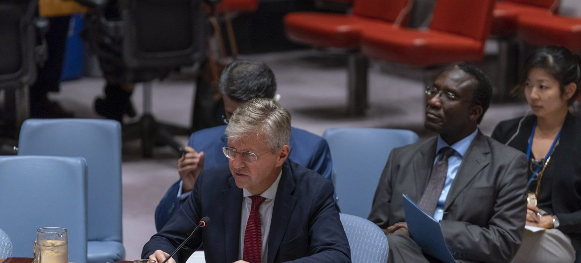 Jean-Pierre Lacroix, Under-Secretary-General for Peacekeeping Operations, briefs the Security Council on situation in Sudan and South Sudan on 18 September 2018.