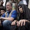 Le chef du Programme alimentaire mondial, David Beasley, en visite à Sanaa, au Yémen, où sévit la pire crise de la faim dans le monde depuis au moins un an.