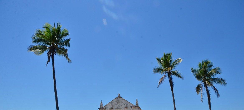 Igreja na Ilha de Moçambique, em Moçambique.
