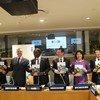 """中国农业大学校长孙其信在纽约联合国总部参加联合国南南合作办公室举行的""""中国南南农业合作全球思想者对话""""活动并发言。"""