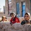 Des fillettes dans le village de Shade Bara, dans la province de Herat, en Afghanistan.