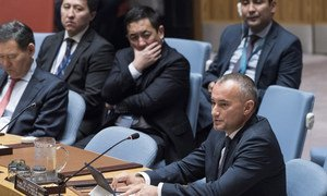 Nickolay Mladenov, the UN Special Coordinator for the Middle East Peace Process, briefs the Security Council on the situation in the Middle East, including the Palestinian question.