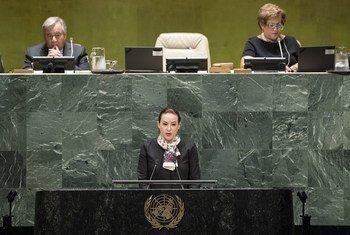 Presidente da Assembleia Geral, María Fernanda Espinosa.