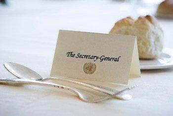 Одно из важных и торжественных мероприятий на «высокой неделе» - обед от имени Генсека ООН для глав делегаций