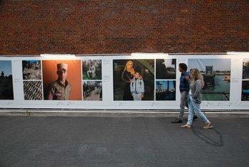 معرض الصور الذي نظمته دائرة الأمم المتحدة للأعمال المتعلقة بالألغام في نيويورك للتوعية بمخاطر الألغام في العراق وجهود الأمم المتحدة لإزالتها.