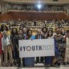 """Réunion de haut niveau au siège de l'ONU à New York pour lancer la stratégie intitulée """"Jeunesse 2030""""."""