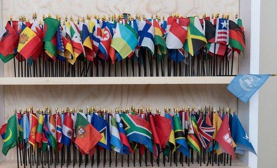 Миниатюрные флаги государств-членов ООН