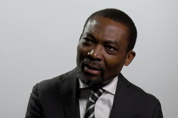 Judge Chile Eboe-Osuji, President of the International Criminal Court (ICC), at UN News studios in New York on 24 September 2018.