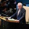 巴西总统特梅尔在第73届联合国大会高级别一般性辩论上发表讲话。