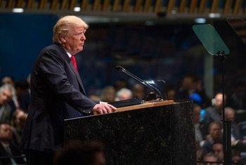 Presidente Donald Trump na Assembleia Geral.