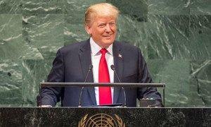 Le Président américain Donald Trump devant l'Assemblée générale des Nations Unies.