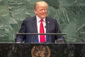 Президент США Дональд Трамп выступил на 73-й сессии Генеральной Ассамблеи