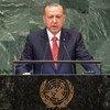 土耳其总统埃尔多安在第73届联合国大会高级别一般性辩论上发表讲话。