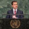 El presidente de México, Enrique Peña Nieto, en su discurso del debate general del 73 período de sesiones de la Asamblea General.