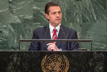 President Enrique Peña Nieto of Mexico addresses the seventy-third session of the United Nations General Assembly.