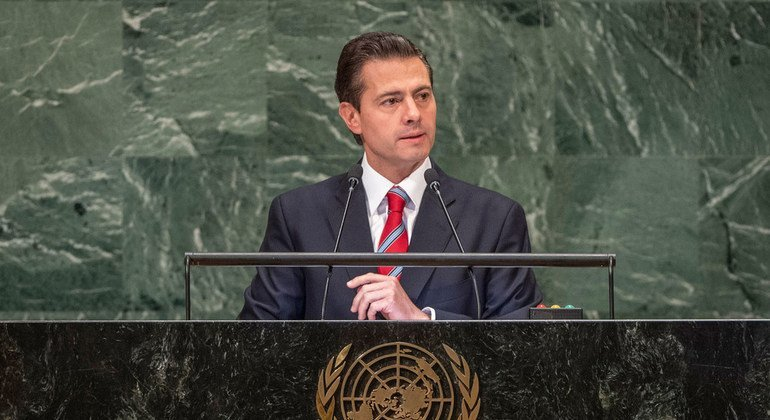 At UN Assembly, Mexico says world headed back to isolationism, protectionist systems