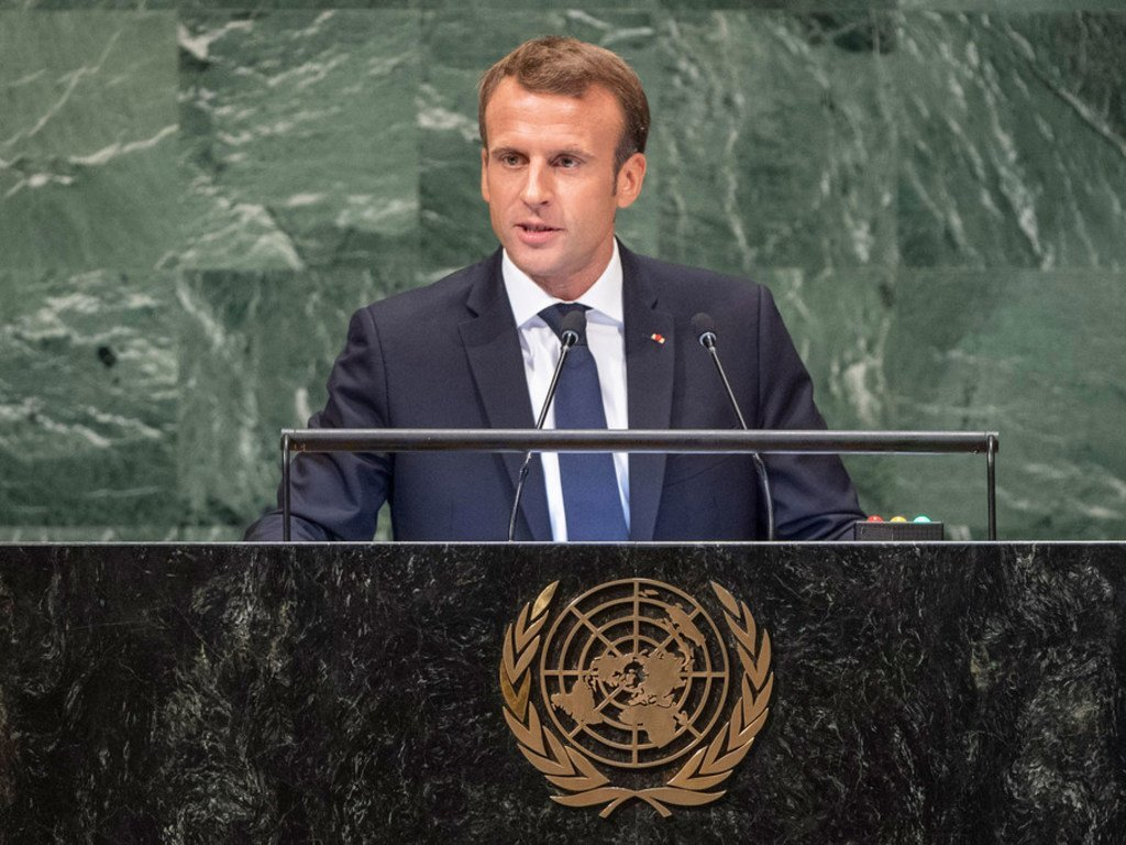 Dialogue And Multilateralism Key To Tackling Global Challenges France S Macron Says At Un Urging Leaders Not To Accept Our World Unraveling Un News