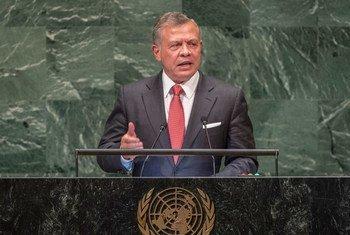 العاهل الأردني الملك عبد الله الثاني يلقي كلمة بلاده في المداولات العامة للدورة الثالثة والسبعين للجمعية العامة. 25/9/2018