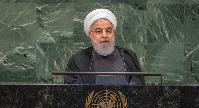 Denouncing US decision to pull out of nuclear deal, Iranian President says talks can resume, but threats and sanctions must end