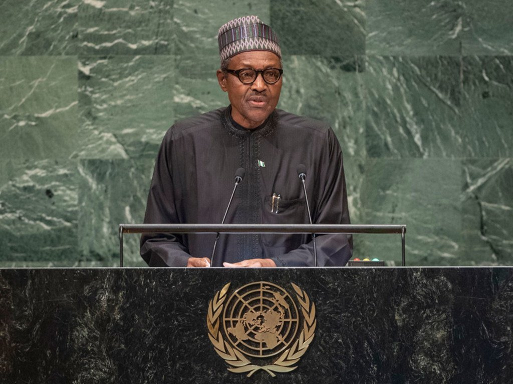 President Muhammadu Buhari of the Federal Republic of Nigeria addresses the seventy-third session of the United Nations General Assembly.