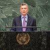 Mauricio Macri, presidente de Argentina, en la Asamblea General.