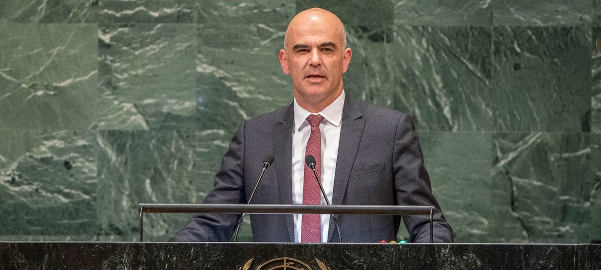 President Alain Berset of the Swiss Confederationaddresses the seventy-third session of the United Nations General Assembly.