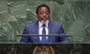 President Joseph Kabila Kabange of the Democratic Republic of the Congo addresses the seventy-third session of the United Nations General Assembly.