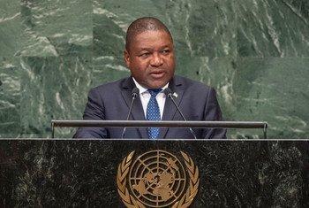 Presidente de Moçambique,  Filipe Jacinto Nyusi.
