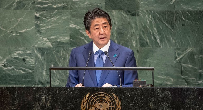 At UN Assembly, Japanese Prime Minister defends free trade