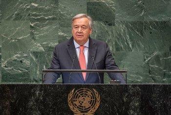 El Secretario General, António Guterres, presenta su informe anual sobre el trabajo de la Organización en visperas de la apertura del 73 periodo de sesiones del debate general.