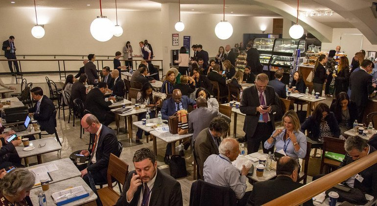 The Vienna Cafe, a meeting place for diplomats beneath the UN General Assembly hall