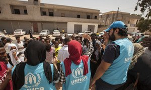 As renewed fighting broke out in Tripoli, Libya, in early-September, UNHCR's local office provided assistance to refugees and asylum-seekers who escaped from detention centres as rockets exploded around the capital. 8 September 2018.