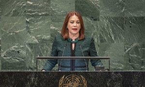 María Fernanda Espinosa Garcés; President of the seventy-third session of the General Assembly; addresses the opening of the General Debate.