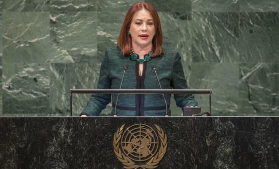 Председатель 73-й сессии Генассамблеи ООН Мария Фернанда Эспиноса.