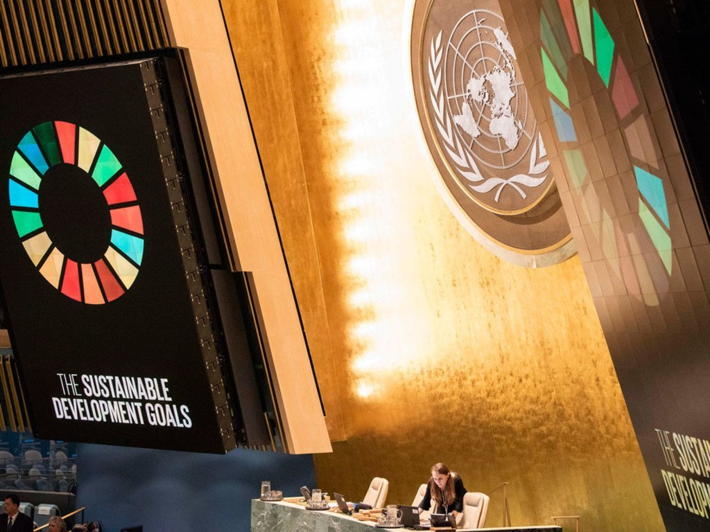 United Nations General Assembly prepares to hold a meeting on the 2030 Agenda for Sustainable Development Goals.