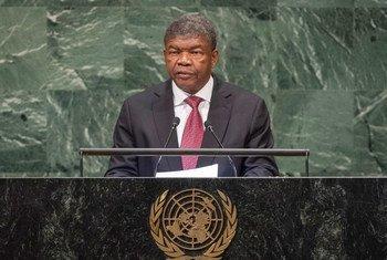 O presidente de Angola, João Manuel Gonçalves Lourenço, discursa na 73ª sessão da Assembleia Geral da ONU