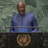 President George Manneh Weah of the Republic of Liberia addresses the seventy-third session of the United Nations General Assembly.