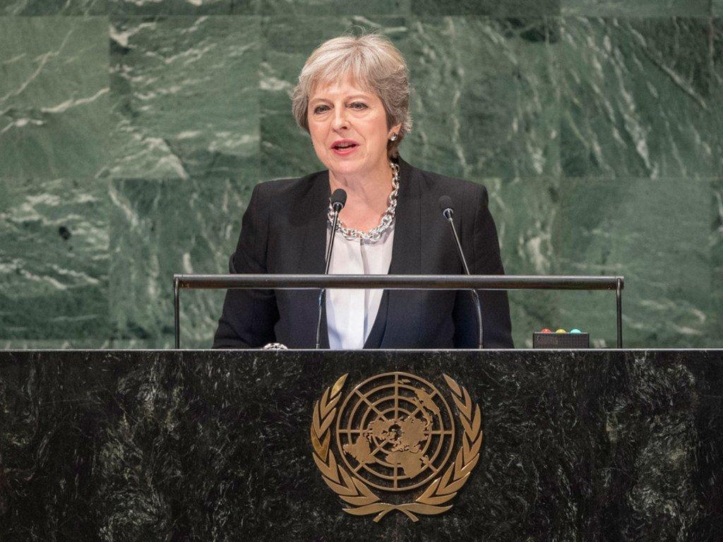 Премьер-министр Великобритании Тереза Мэй призвала противопоставить многосторонее сотрудничество национализму и протекционизму