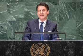 意大利总理孔特在联大第73届会议一般性辩论中发言。
