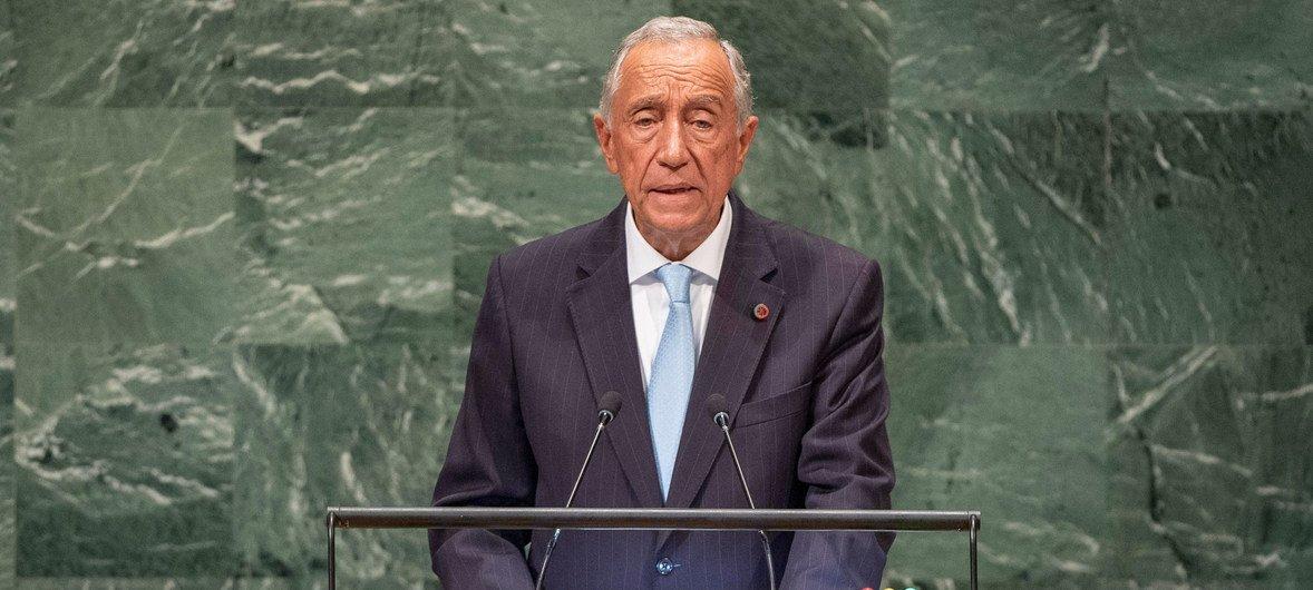 Presidente de Portugal, Marcelo Rebelo de Sousa, na Assembleia Geral.