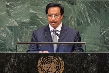 الشيخ جابر المبارك الحمد الصباح رئيس مجلس الوزراء الكويتي يتحدث في المداولات رفيعة المستوى للدورة 73 للجمعية العامة للأمم المتحدة.