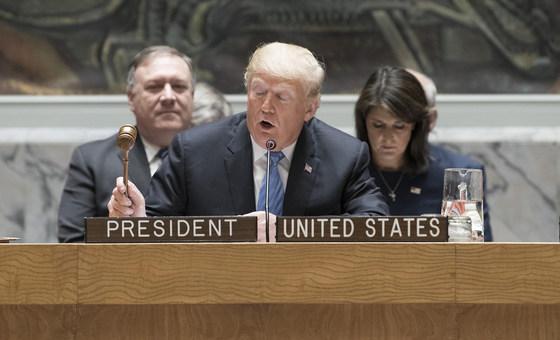 """O presidente dos Estados Unidos que o seu país irá impor sanções ao Irã """"mais duras do que nunca"""" nos próximos meses"""