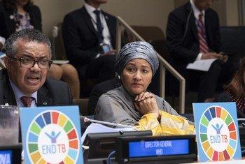 Первый заместитель Генерального секретаря ООН  Амина Мохаммед на  заседании по туберкулезу
