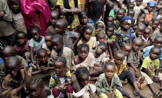 Internally displaced children in Bangui, Central African Republic.