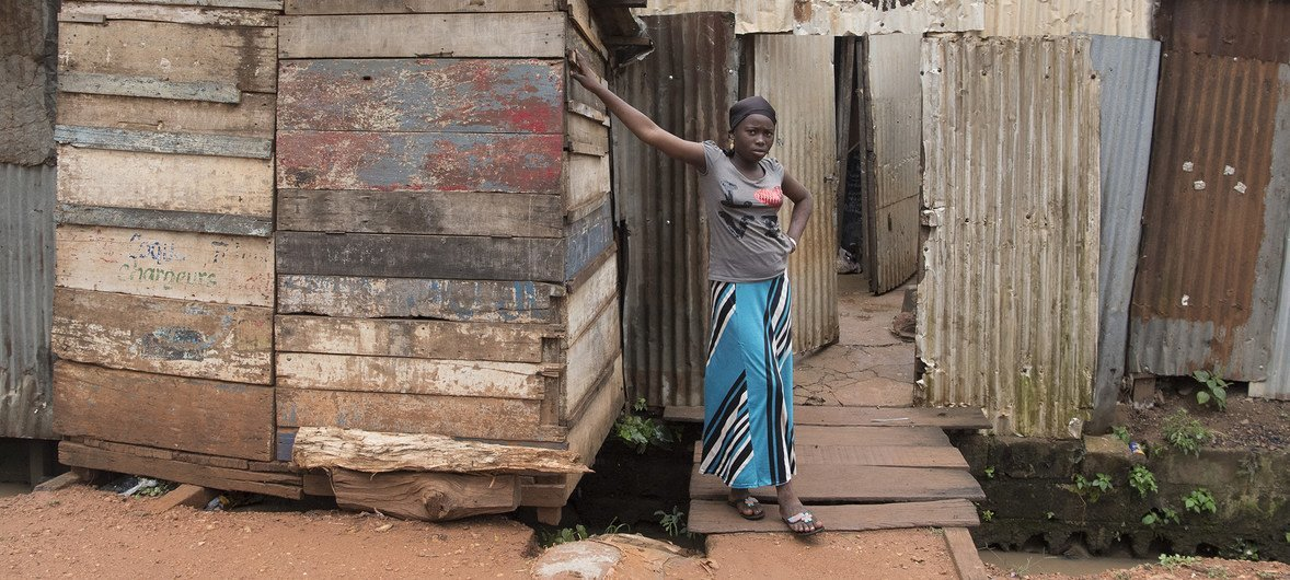 A woman in Bangui, Central African Republic.