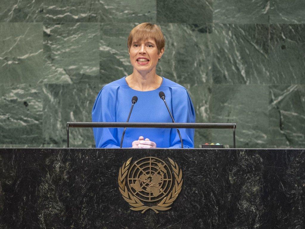 Президент Эстонии Керсти Кальюлайд призвала переходить от слов к делу |  Новости ООН