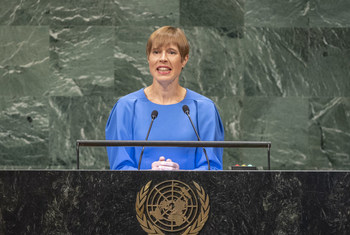 Kersti Kaljulaid, President of the Republic of Estonia, addresses the general debate of the General Assembly's seventy-third session.