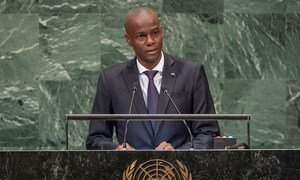 President Jovenel Moïse of the Republic of Haiti addresses the seventy-third session of the United Nations General Assembly.
