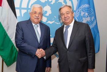 Генеральный секретарь ООН Антониу Гутерриш встретился с президентом Палестины Махмудом Аббасом