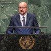 Le Premier ministre belge, Charles Michel, prend la parole à la soixante-treizième session de l'Assemblée générale des Nations Unies.